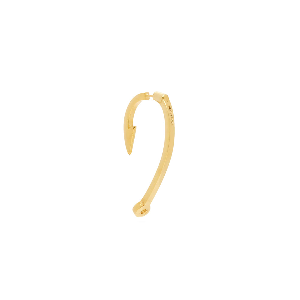 """HOOK"" GOLD-PLATED MONO EARRING"