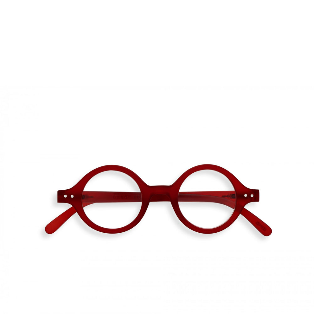 """J"" Red Crystal Reading Glasses"