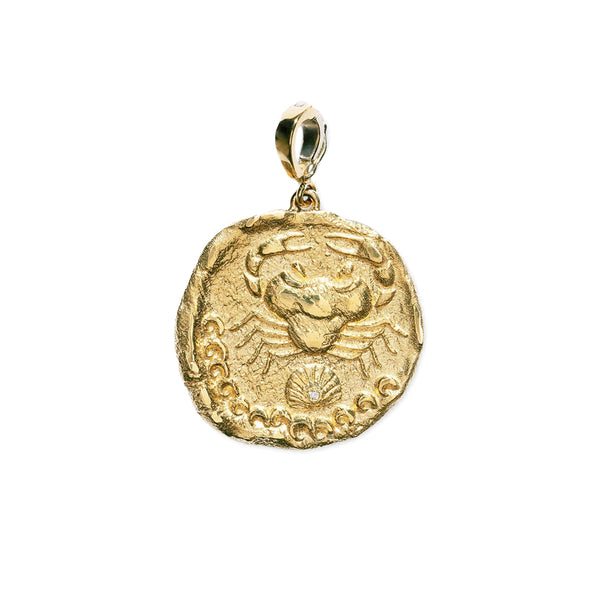 """KARKINOS LARGE DIAMOND COIN"" CHARM"