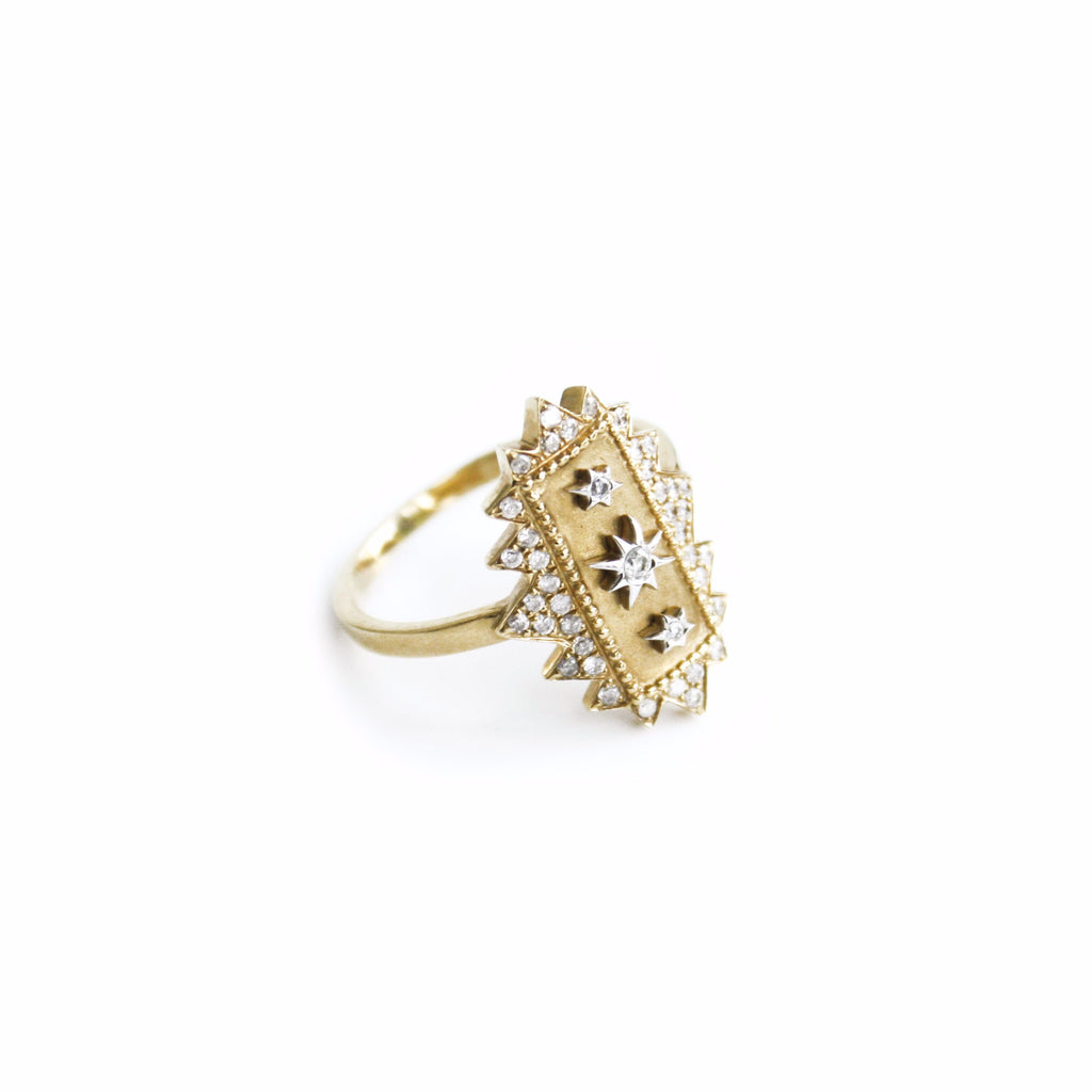 """Square Khaleessi"" 18K Gold Ring"