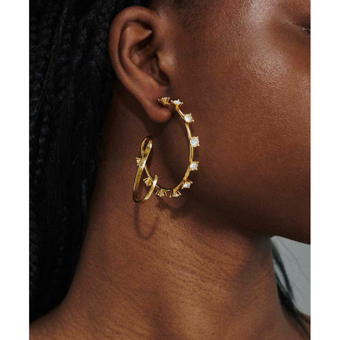 """Kilter"" Crystal Hoops Earrings"