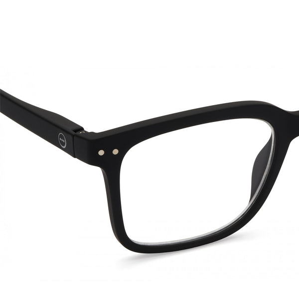 """L"" Black Reading Glasses"