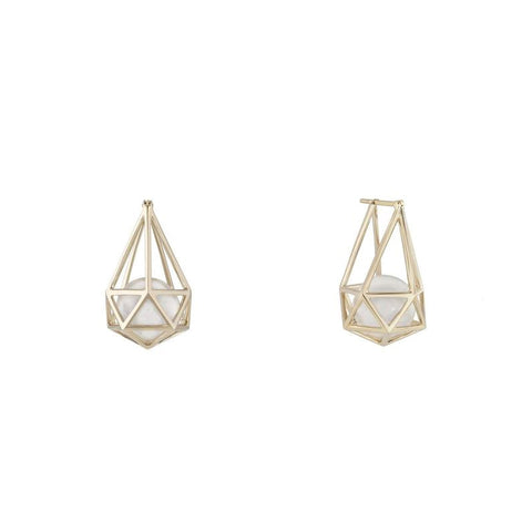 """Laha"" 18k Gold Earrings"