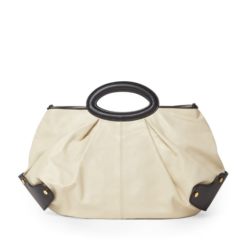 """BALLOON CALFSKIN BAG"" BEIGE"