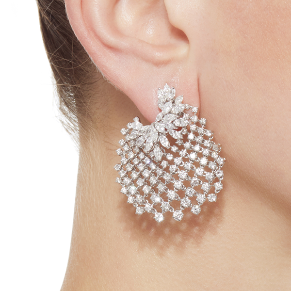 """Chevalier Collection Mesh"" 18k Gold Earrings"