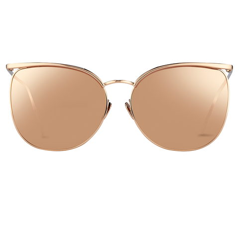 """Browline Rose Gold"" Sunglasses - ARCHIVES"