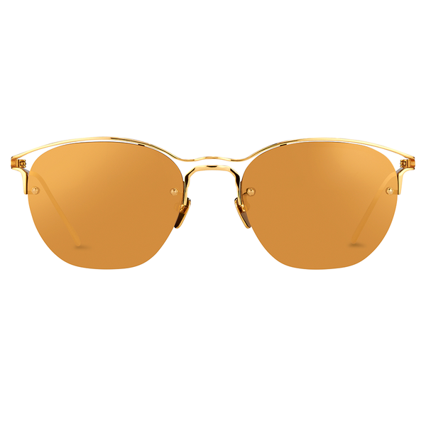 """Browline Yellow Gold"" Sunglasses - ARCHIVES"