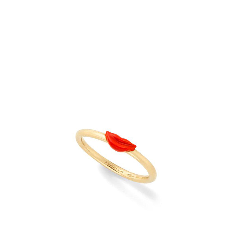 """Wire Ring with Smiling Lips"" Ring"