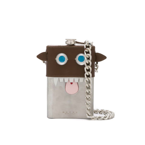 """Metal and Leather Necklace"" Flask"