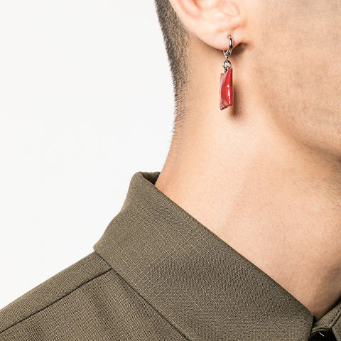 """RED PILLOW"" MONO EARRING"