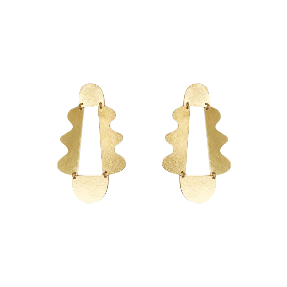 """MATISSE"" GOLD-PLATED BRASS EARRINGS"