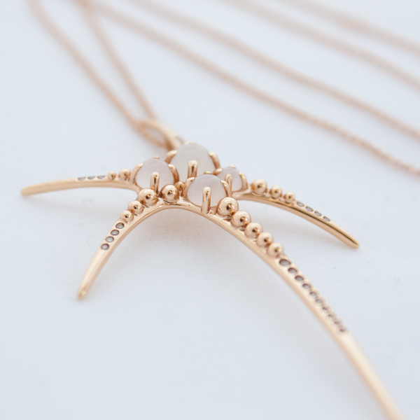 """Mermaid"" 18K Rose Gold Necklace"