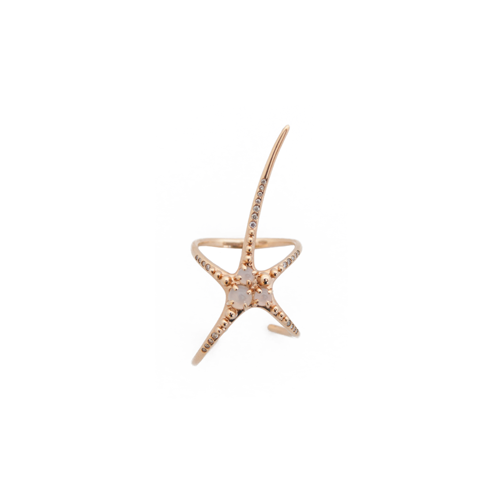 """Mermaid"" Star 18K Rose Gold Ring"