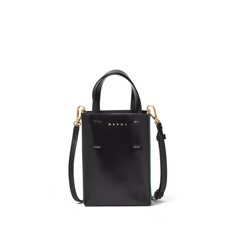 """NANO MUSEO SHOPPING BAG"" BLACK"