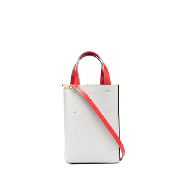 """NANO MUSEO SHOPPING BAG"" GREY, BLACK AND RED"