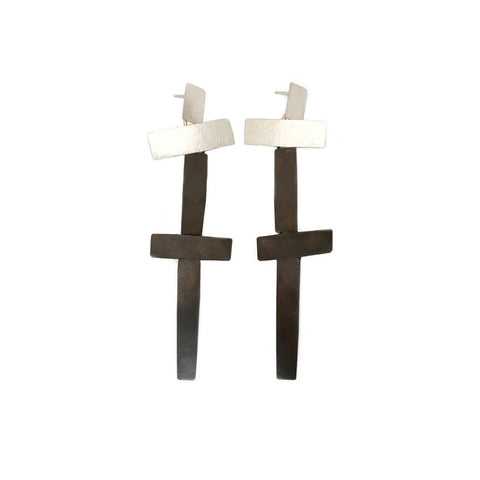 """Night Cross"" Earrings"