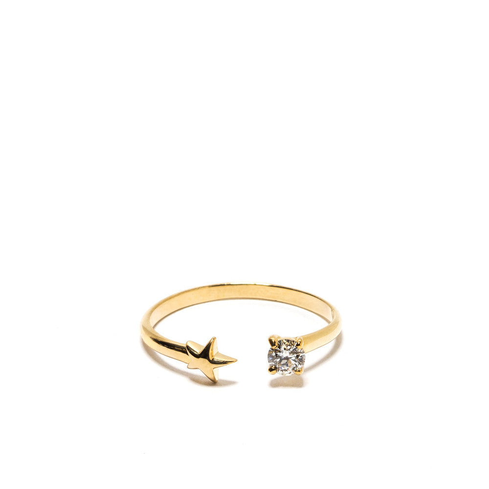 """Star Age"" 18k Yellow Gold Ring - ARCHIVES ltd"