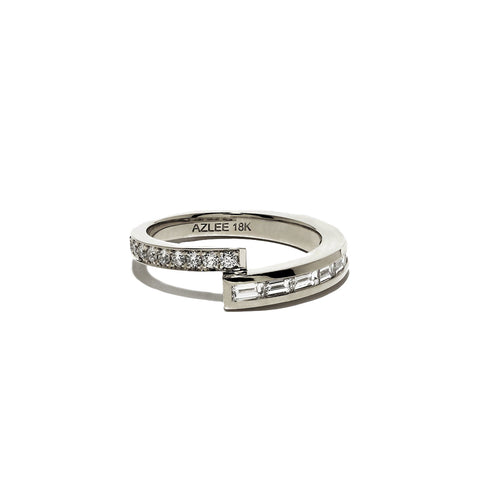 """PAVE AND BAGUETTE DIAMOND BAND"" RING"