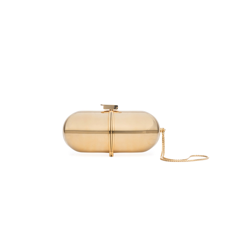 """PILL"" GOLD BAG"