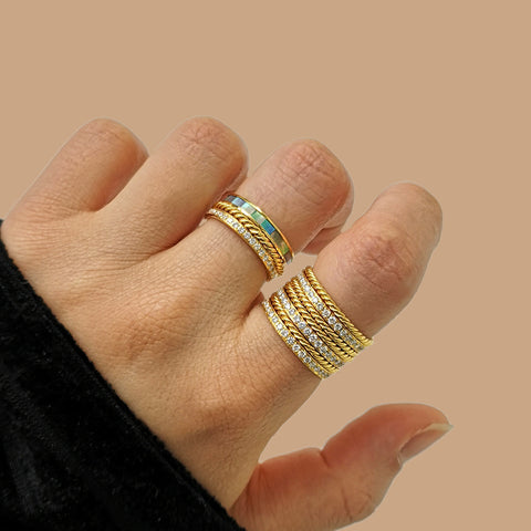 """Pleated Ring"" 18K Siam Yellow Gold"