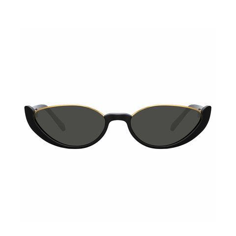 """LINDA FARROW ROBYN BLACK AND GOLD"" SUNGLASSES"