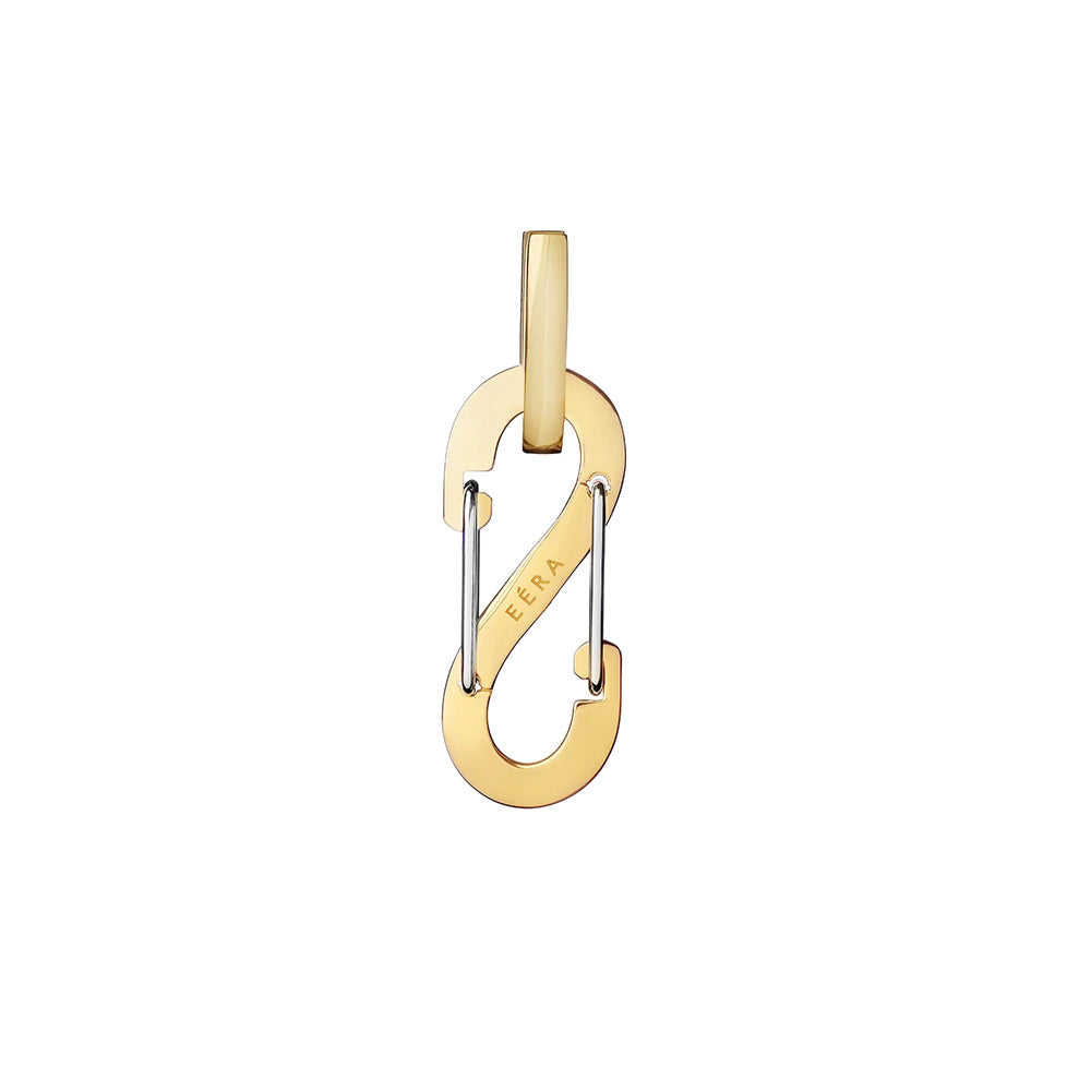 """ROMY"" SMALL YELLOW GOLD MONO EARRING"