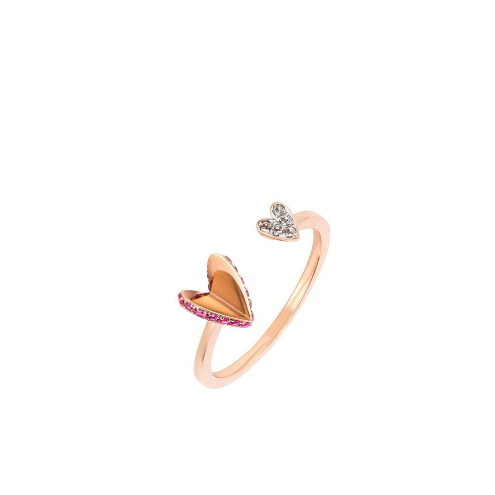 """ELEMENTS Flutter Heart"" 18k Gold Ring"