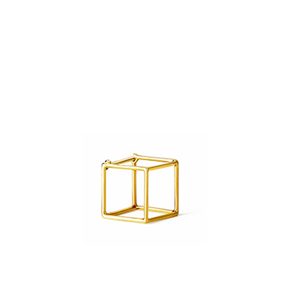 """Square 10mm"" 18K Yellow Gold Earring"