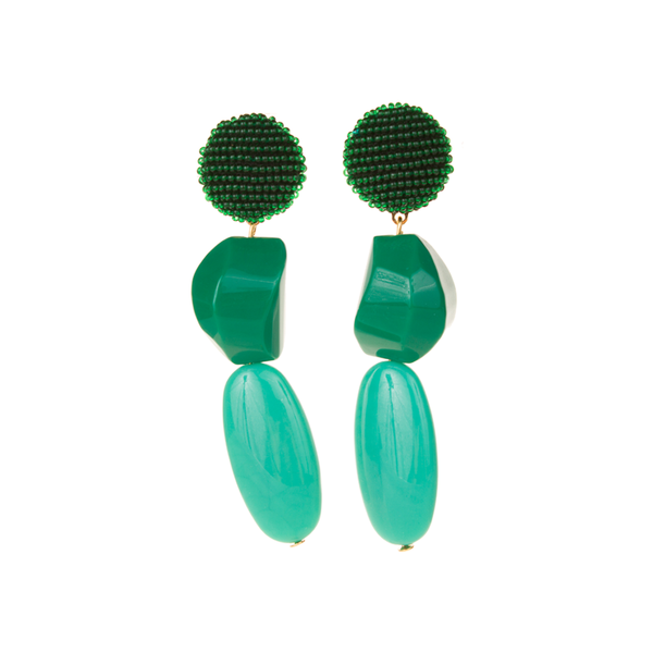 """Medee Malaquite"" Earrings"