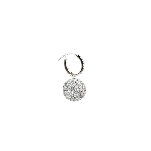 """Diamond Ball"" 18K Gold & Diamond Earrings"