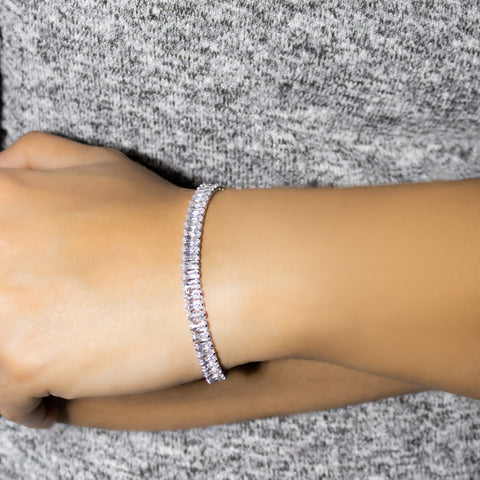 """Silver and Swarovski Crystal"" Bracelet"