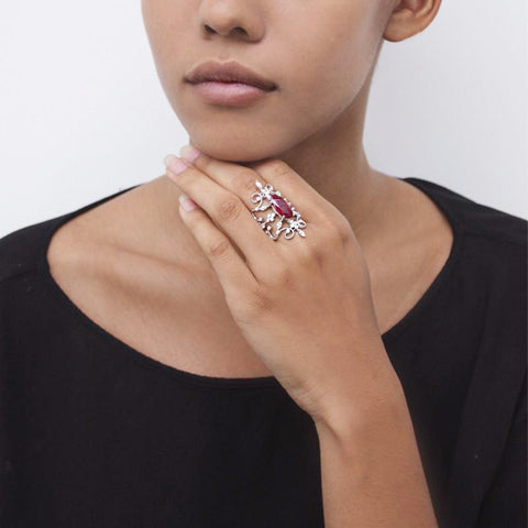"""BURMA RUBY"" 18K GOLD RING"