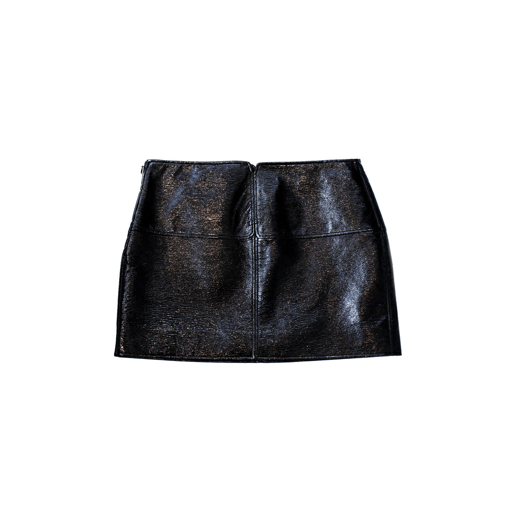"""Mini Swallows Skirt"" Black Vinyl Skirt"