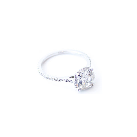 """Vintage Diamond Solitaire"" Ring"