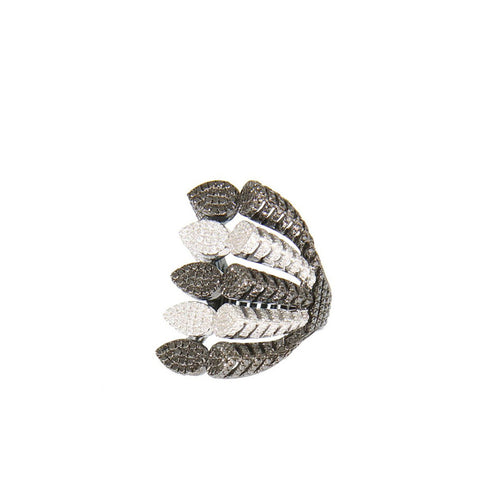 """Spine"" 18k Black & White Gold Ring - ARCHIVES ltd - 1"