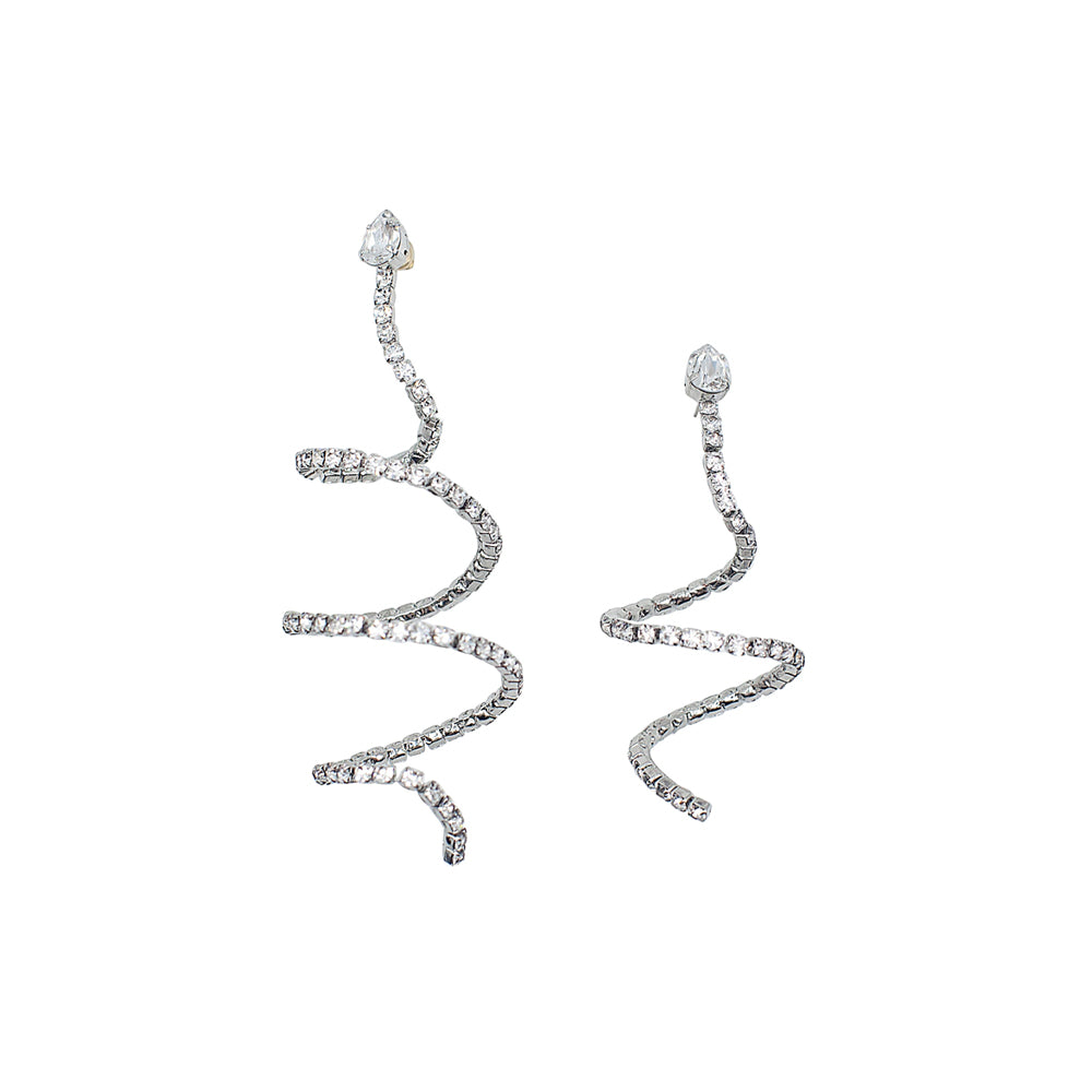 """SPIRAL"" CRYSTAL EARRINGS"