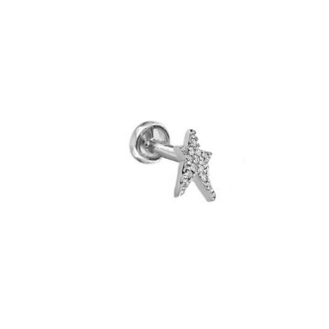 """STARSTRUCK"" WHITE DIAMOND & WHITE GOLD EAR PIERCING"