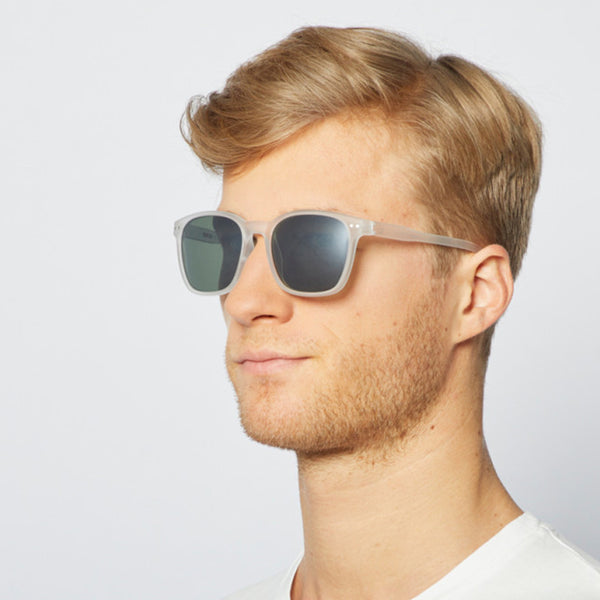 """NAUTIC"" White Crystal Polarized Sunglasses"