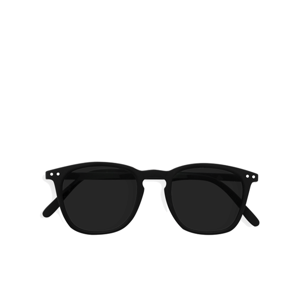 """E"" Black Grey Lenses Sunglasses"