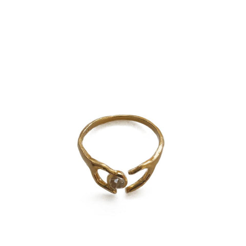 """The Heart"" Yellow Gold Ring"