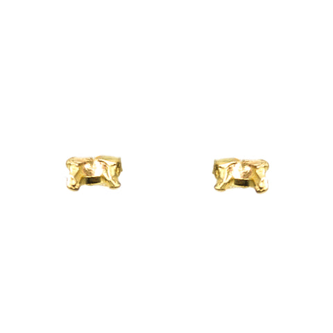 """Sliced Setting"" 18K Gold Studs"