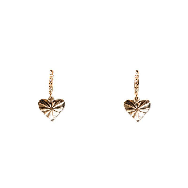 """POUR TOUJOURS"" HEART COIN EARRINGS"