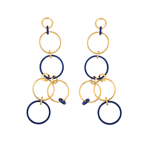 """Tribale Shoulder Duster Ring"" Earrings"