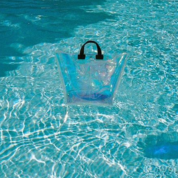 TRANSLUCENT BLUE FILM BIG SHOPPER BAG