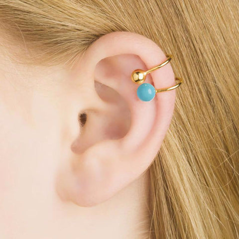 """Lana Turquoise"" Ear Clip"