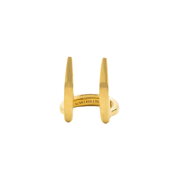 """VIPER FANG"" GOLD-PLATED RING"
