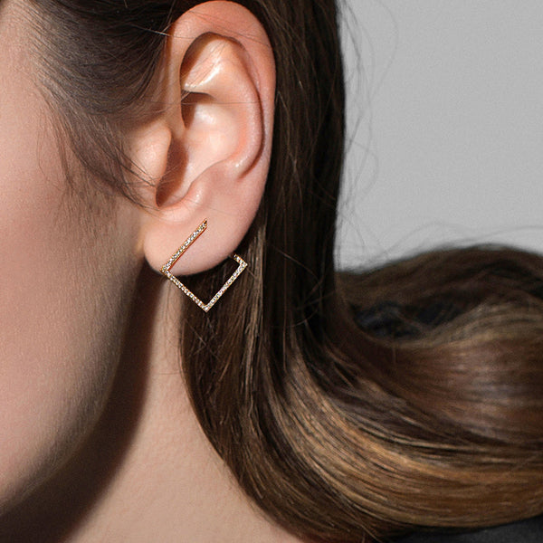"""WHILE LIGHT FULL PAVE"" EARRINGS"