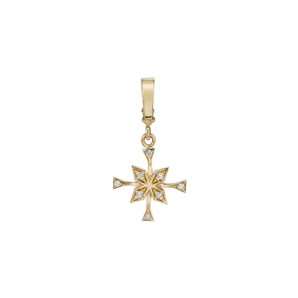 """X-Small Compass Diamond Charm"""