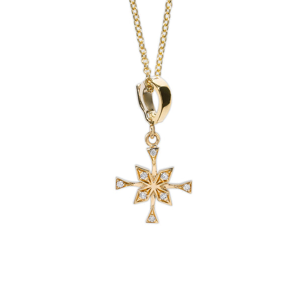 """X-small Compass Diamond Necklace"""
