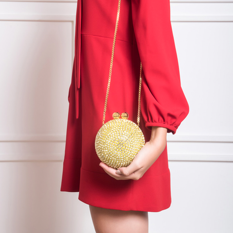 "MINI ""CRYSTAL BALL"" YELLOW BAG"
